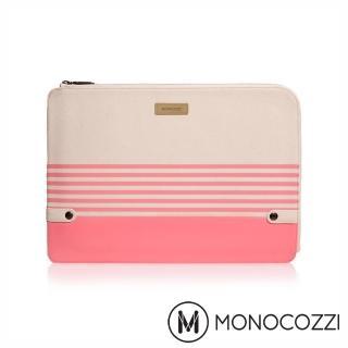 【MONOCOZZI】Gritty 校園系列 Macbook Pro 13 吋 USB-C & MacBook 12 吋筆電保護套(珊瑚粉)
