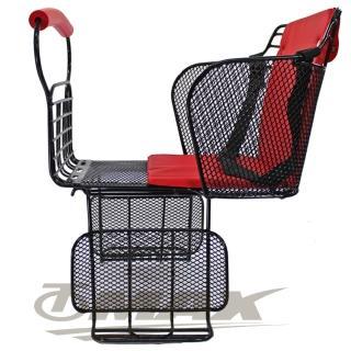 【OMAX】自行車舒適兒童安全後座椅-台製-紅
