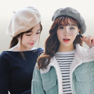 【I.Dear】12H速達-秋冬時尚百搭多彩羊毛畫家帽(11色)
