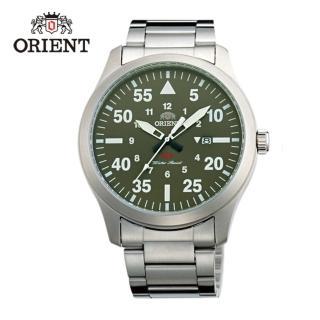 【ORIENT 東方錶】SP 系列 飛行運動石英錶 鋼帶款  綠色 - 42mm(FUNG2001F)