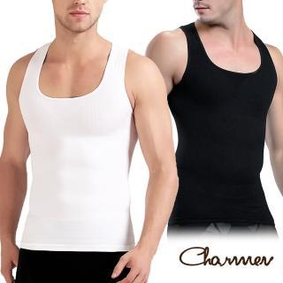 【Charmen】升級加強版背心 男性塑身衣(2色任選)