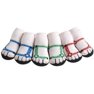 【Jazzy Toes】時尚造型棉襪/止滑襪/假鞋襪/嬰兒襪_三入禮盒組_登山鞋造型襪(JT3-09)
