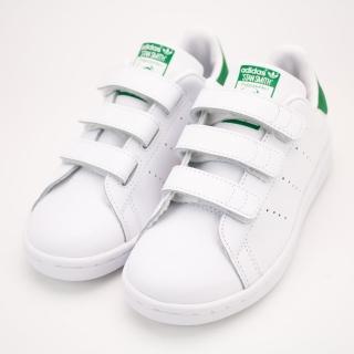 【ADIDAS】STAN SMITH CF C 經典 史密斯 白綠 中大童 休閒鞋(M20607)