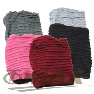 【OMAX】全新保暖雙面毛帽圍脖兩用款-2入(隨機出貨)