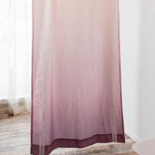 【伊美居】粉紅佳人落地窗簾 130x230cm-1件(單片)