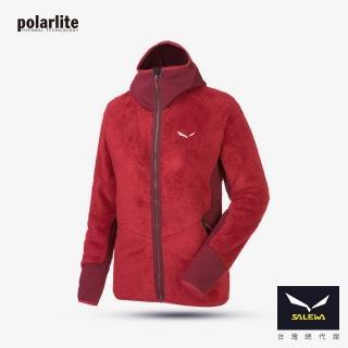 【義大利 SALEWA】PUEZ 女 Polarlite保暖全門襟連帽外套(26627-6331/1880 棗紅/葡紅)