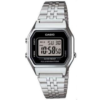 【CASIO 卡西歐】方格普普風數位運動錶(LA-680WA-1)