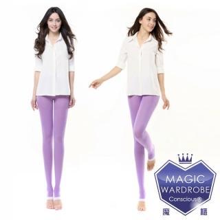 【買一送一MAGIC WARDROBE 魔莉絲】標準級360DEN西德棉睡眠褲襪一組兩雙(彈性壓力顯瘦腿襪)