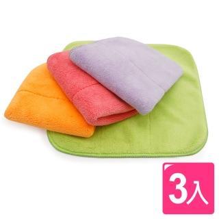 【AXIS 艾克思】超細纖維加厚珊瑚絨擦拭巾 抹布 3入組(強力吸水去汙)
