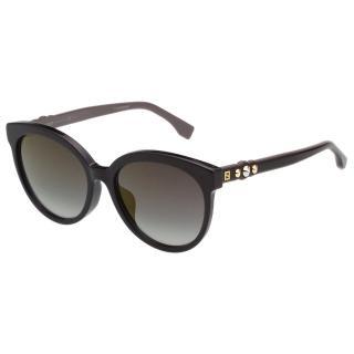 【FENDI 芬迪】時尚造型 太陽眼鏡 FF0268FS(黑色)
