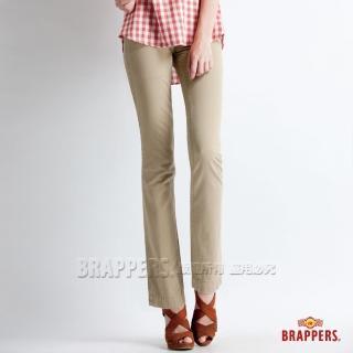 【BRAPPERS】女款 Boy Firend Jeans 系列-直統反摺褲(卡其)