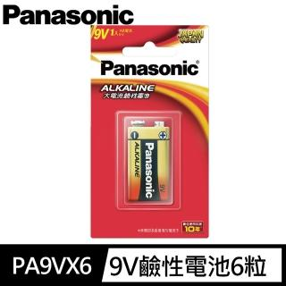 【Panasonic 國際牌】國際牌Panasonic ALKALINE 鹼性 9V6入 國際牌鹼性電池 9V