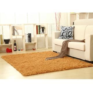 【幸福揚邑】舒壓長毛羊絲絨超軟防滑吸水地墊地毯-卡其(140x200cm)