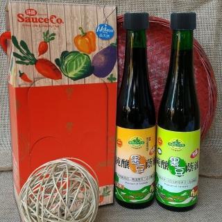 【味榮】純釀禮盒(420ml純釀油膏+油露)