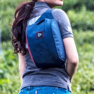 【MOOX 穆克斯】A5BR 極簡時尚單肩斜背包/腰包(海軍藍)