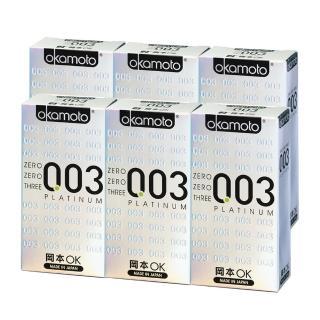 【okamoto 岡本】003 Platinum白金(6片X6盒)