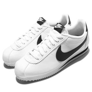 【NIKE 耐吉】休閒鞋 Classic Cortez 女鞋 男鞋 阿甘鞋 低筒 運動 復古 球鞋 穿搭 白 黑(807471-101)