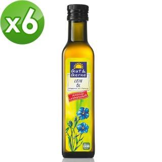 【小太陽】德國冷壓初榨亞麻仁油(250ml*6瓶)
