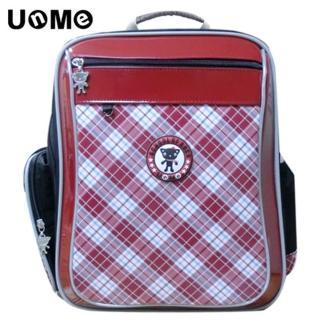 【UnMe】Easy bag紅格系人體工學後背書包(魅力紅)
