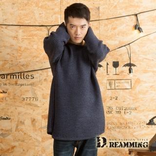 【Dreamming】素面百搭壓條寬袖圓領針織毛衣(共四色)