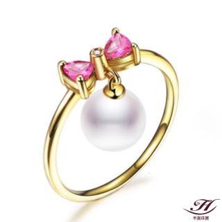 【禾美珠寶】天然AKOYA珍珠戒指EM228(18K金)