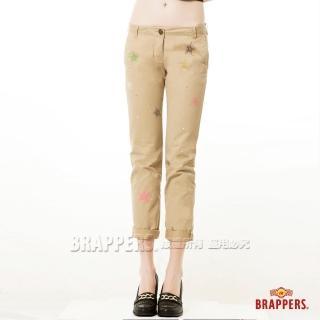 【BRAPPERS】女款 Boy Friend Cargo系列-九分反摺褲(卡其)