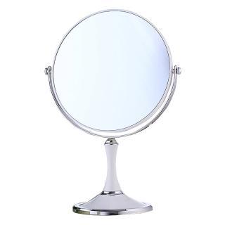 【幸福揚邑】歐式8吋超大歐式時尚梳妝美容化妝放大雙面桌鏡(圓鏡-純白)