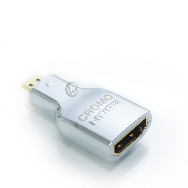【LINDY 林帝】LINDY 林帝 CROMO鉻系列 micro HDMI D公 轉 HDMI A母 V2.0 轉接頭 41510