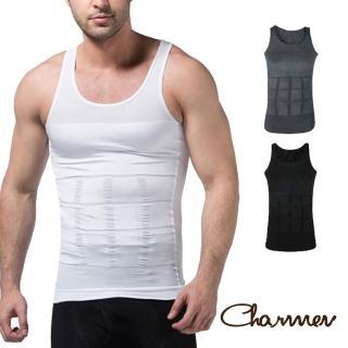【Charmen】坦克加壓版背心 男性塑身衣(3色任選)