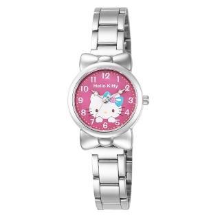 【HELLO KITTY】凱蒂貓可愛蝴蝶結俏皮手錶(紅 LK688LWRA)