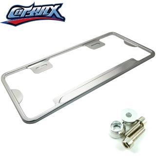 【Cotrax】汽車七碼輕量化鋁合金牌照框-銀色(車牌 車框)