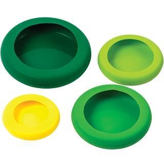 KitchenCraft 矽膠保鮮膜4件(綠黃)