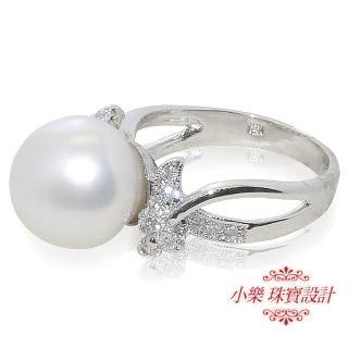 【小樂珠寶】12.2mm純天然海水南洋珠戒指-14號戒圍(南洋珠專賣店-網路cp值最高珍珠最多)