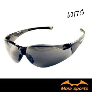 【MOLA】摩拉運動護目鏡安全太陽眼鏡防飛沫防塵防風深灰鏡片(超輕量 男女 6017s)