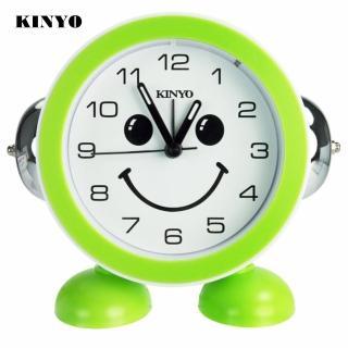 【KINYO】雙鈴微笑靜音掃描鬧鐘(TB-719)