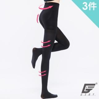 【GIAT】台灣製200D美魔彈力俏臀褲襪(3件組)