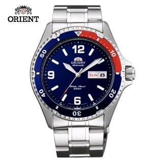 【ORIENT 東方錶】ORIENT 東方錶 WATER RESISTANT系列 200m潛水機械錶 鋼帶款 藍色(FAA02009D)