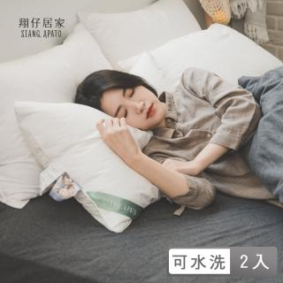 【翔仔居家】德國專利 物理防蹣水洗枕(適中/中低 2款任選)