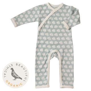 【Pigeon Organics】真舒連身衣-北極熊(來自牛津的高貴有機棉嬰兒衣著)