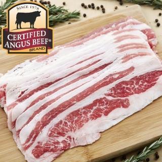 【豪鮮牛肉】安格斯凝脂厚切牛五花肉片4包(200G+-10%/包)
