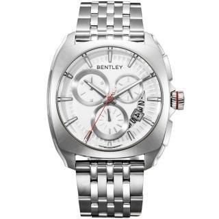 【Bentley 賓利】Solstice系列 黑暗紳士計時手錶(銀 BL1681-70000)