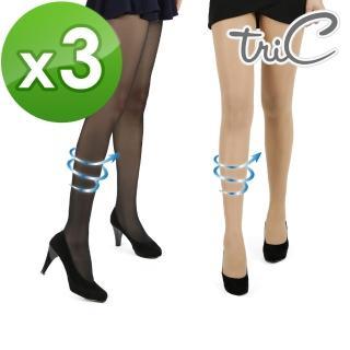 【Tric】80D 無暇美肌空氣感透膚襪 3雙組(黑/膚)