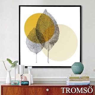 【TROMSO】北歐時代風尚有框畫-日初觀葉50*50cm(有框畫掛畫)