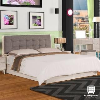 【Hampton 漢汀堡】米基系列6尺雙人床-床組(雙人床/床組/床/床底/床頭/床頭片/雙人床頭片)