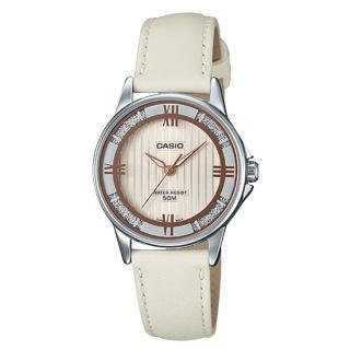 【CASIO 卡西歐】氣質指針女錶 皮革錶帶 防水50米(LTP-1391L-7A2)