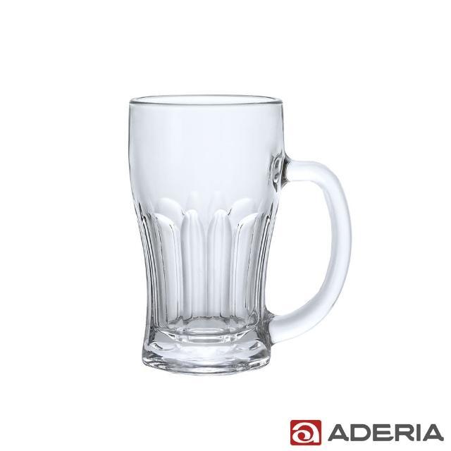 【ADERIA】日本進口玻璃啤酒杯380ml(淺酌款)
