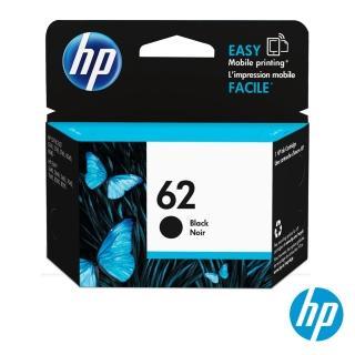 【HP墨水黑色2入組】NO.62 原廠黑色墨水匣(C2P04AA)