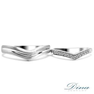 【DINA 蒂娜珠寶】『一生一世』 鑽石情侶結婚對戒(對戒 系列)