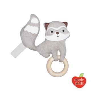 【Apple Park】隨身安撫啃咬牙環玩具(小浣熊)