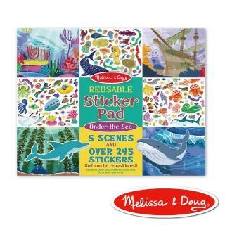 【Melissa & Doug 瑪莉莎】貼紙簿 - 可重複貼紙 - 海底世界